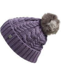 Smartwool - 'ski Town' Pompom Beanie - Purple - Lyst