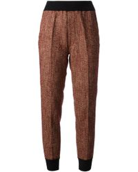Forte Forte Jogging Style Tweed Trousers - Lyst