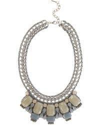 Karen Millen Statement Necklace silver - Lyst