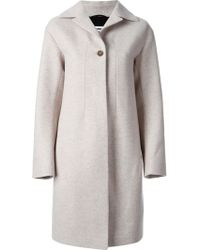 Jil Sander One Button Classic Coat - Lyst