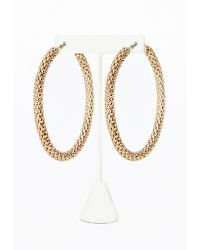 Missguided Large Thick Hoop Earrings Gold - Lyst