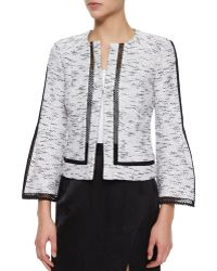 Nanette Lepore Graphic Tweed Jacket - Lyst
