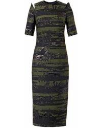 Josh Goot - Slice Jacquard Pencil Dress - Lyst