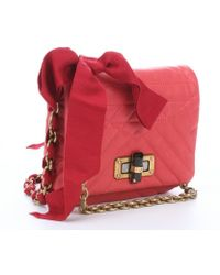 Lanvin Coral Quilted Leather 'Happy Mini Pop' Crossbody Bag - Lyst