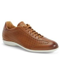 Santoni 'Tailor' Perforated Leather Sneaker - Lyst