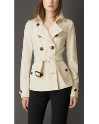 Burberry Silk Trench Jacket beige - Lyst