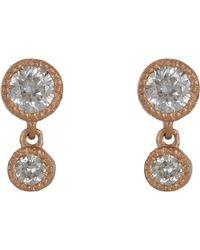 Tate - Diamond Double-drop Earrings - Lyst