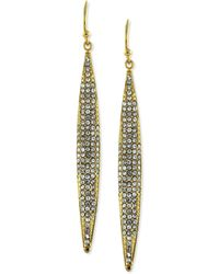 Vince Camuto - Gold-tone Crystal Pave Linear Earrings - Lyst