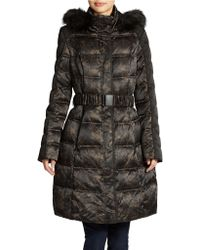 Vera Wang Camouflage Winter Jacket - Lyst