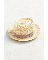 BDG - Straw Porkpie Hat - Lyst