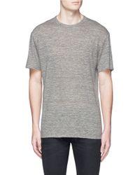 T By Alexander Wang | Linen T-shirt | Lyst