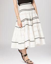Maje Skirt - Jeanne Full Embroidered - Lyst