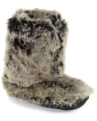Bedroom Athletics | Cole Faux-Fur Slipper Boots  | Lyst