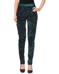 Paola Frani Casual Pants teal - Lyst