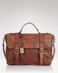 Frye - Logan Flap Briefcase - Lyst