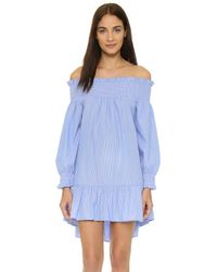 Thayer | J Love Cover Up Dress - Pinstripe | Lyst
