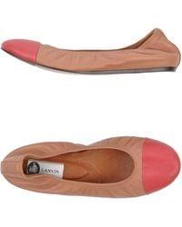 Lanvin Pink Ballet Flats - Lyst