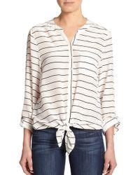 Joie Osei Striped Silk Top - Lyst