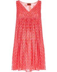 Missoni V-Neck Sleeveless Empire Dress red - Lyst