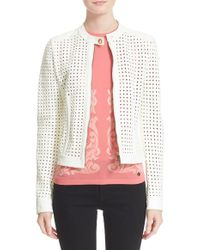 Versace | Cutout Leather Jacket | Lyst