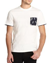 Fred Perry Drakes Paisley Pocket Tee - Lyst
