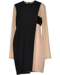 Celine Beige Short Dress - Lyst
