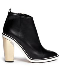 Nicholas Kirkwood Sculpted Heel Leather Ankle Boots - Lyst