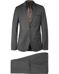 Calvin Klein Grey Cotton And Wool-Blend Suit - Lyst