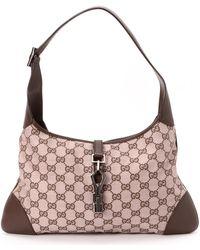 Gucci Pink & Brown Jackie Shoulder Bag - Lyst