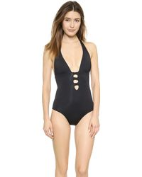 L*space L Portofino One Piece Swimsuit - Black - Lyst