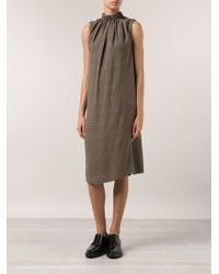 Maison Margiela Herringbone Print Dress - Lyst