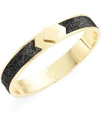 Cole Haan - Leather-accented Bangle Bracelet - Lyst