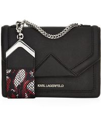 Karl Lagerfeld Rock Saffiano Leather Tote - Lyst