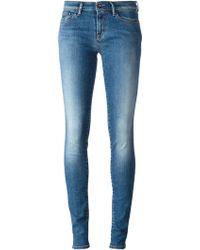Denham Blue Skinny Jeans - Lyst