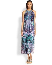Camilla Mixed Print Silk Drawstring Dress - Lyst