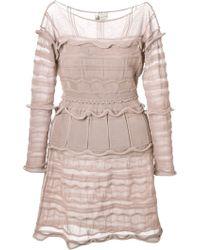 Lanvin Pink Flared Dress - Lyst