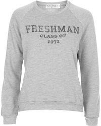 Topshop Freshman Sweatshirt by Project Social Tee - Lyst