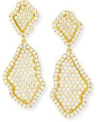 Kimberly Mcdonald - 18k Pave Diamond Geode Inspired Drop Earrings - Lyst