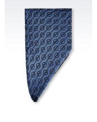 Giorgio Armani Scarf in Logo Patterned Silk - Lyst