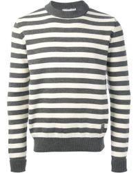 Ami Alexandre Mattiussi Grey Striped Wool Sweater - Lyst