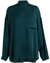 Haider Ackermann Manopesca Silk Shirt - Lyst
