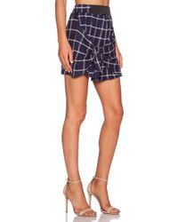 Dolan - Tie Front Mini Skirt - Lyst