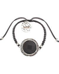 Soru Jewellery - Onyx Charm Cord Tie Bracelet - Lyst