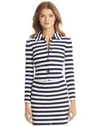 Diane von Furstenberg Dvf Lacie Striped Knit Jacket - Lyst