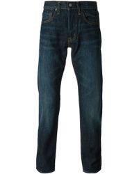 Ralph Lauren Washed Effect Regular Fit Jeans - Lyst