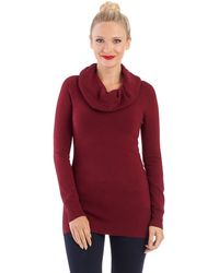 French connection Off The Shoulder Cowl Neck Pullover - Lyst
