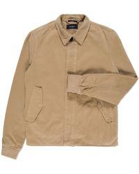 Paul Smith | Men's Beige Cotton And Wool-blend Coach Jacket | Lyst