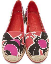 Burberry Prorsum - Berry Pink Bettany Espadrilles - Lyst