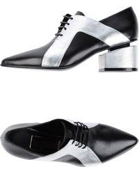 Stephen Venezia Lace-Up Shoes silver - Lyst