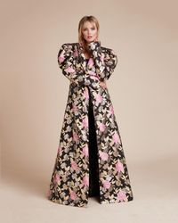 Christian Siriano - Psychadelic Floral Evening Coat - Lyst